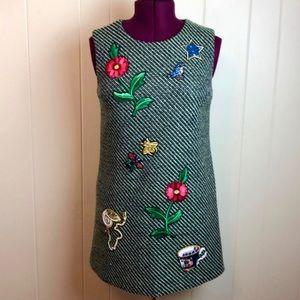 Dolce & Gabbana Sleeveless Shift Dress w/ Appliqué